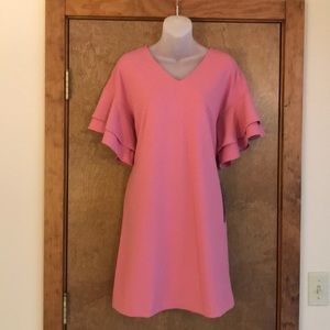 NWT Blush pink midi dress by Nina Leonard